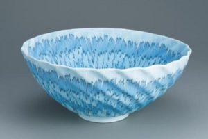第67回日本伝統工芸展  透光磁練上鉢「Nagi」入選
