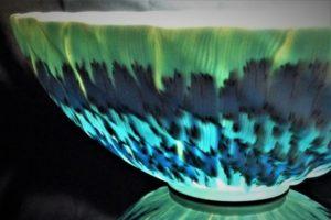 透光磁練上鉢(Nagi) 透光した画像