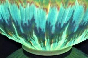令和3年 第68回日本伝統工芸展 透光磁練上楕円鉢(Asahi)入選